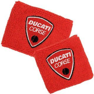 Ducati Corse Red Brake and Clutch Reservoir Sock Cover Set Fits 748, 749, 848, 848 Evo, 916, 996, 998, 999, 1098, 1198, ST2, ST3, ST4, Streetfighter, Hypermotard, Multistrada, Monster 1100: Automotive