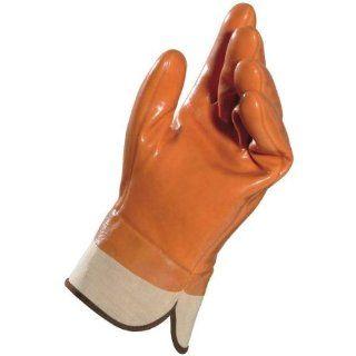 "MAPA Ugoria 751 PVC Heavyweight Glove, 11"" Length, Size 11, Orange, Safety Cuff (Bag of 6 Pairs) Industrial & Scientific"
