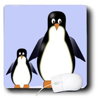mp_20518_1 777images Designs Cartoons   Mama and Baby Penguin Cartoon   Mouse Pads: Computers & Accessories