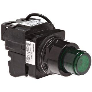 Siemens 52BT6D3A Heavy Duty Push To Test Pushbutton, Water and Oil Tight, Illuminated, Full Voltage, 757 Type Lamp or 6V LED, Green, 1NO   1NC Contact Blocks, 24VAC/VDC Voltage Electronic Component Pushbutton Switches Industrial & Scientific