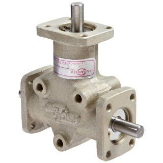 Andantex R3103M Anglgear Right Angle Bevel Gear Drive, Universal Mounting, Two Output Shafts, 3 Flanges, Metric, 8mm Shaft Diameter, 1:1 Ratio, .41 kW at 1750rpm: Mechanical Gearboxes: Industrial & Scientific