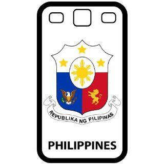 Philippines   Country Coat Of Arms Flag Emblem Black Samsung Galaxy S3 i9300 Cell Phone Case   Cover: Cell Phones & Accessories