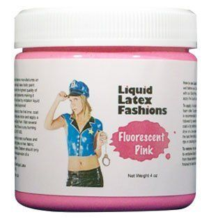 Ammonia Free Liquid Latex Body Paint   4oz Fluorescent Pink  Temporary Tattoos  Beauty