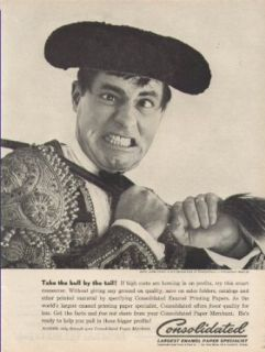 Jerry Lewis for Consolidated paper specialist ad 1961 bull fighting hat Entertainment Collectibles