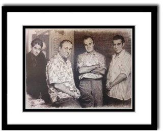 "The Sopranos Cast III Sketch Portrait, Charcoal Graphite Pencil Drawing Poster   16"" x 20"" Framed Print (WU122)"