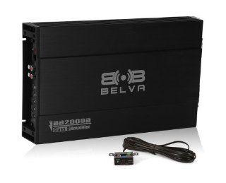Belva BB2000D 1200 Watt Class D Monoblock BB Series Power Car Amplifier/Amp  Vehicle Mono Subwoofer Amplifiers