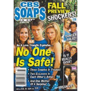 David Tom, Ashley Bashioum, Lauren Woodland, Young and the Restless, Guiding Light, As the World Turns, Bold and the Beautiful   September 11, 2001 CBS Soaps in Depth Magazine [Soap Opera] Heinrich Bauer Publishing L.P. Books