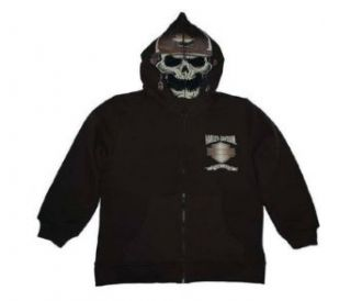 Harley Davidson Boy's Skull Hooded Jacket. Unique Skull, Zip Close Hood. 3291352: Clothing