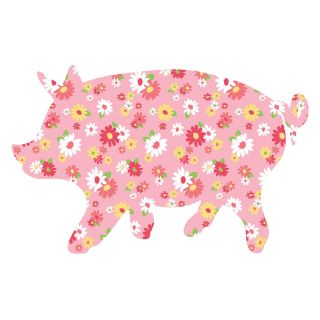 Scarlett The Pig ZooWallogy Wall Art Kit   Wall Decals