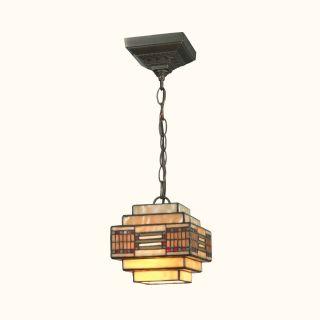 Dale Tiffany Cube Mission Pendant   Small   6.25 watt in. Dark Antique Brass   Tiffany Ceiling Lighting