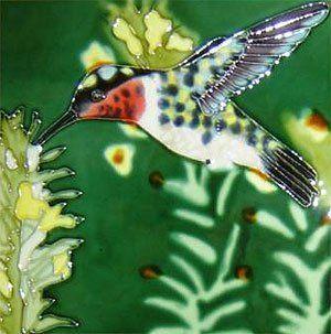Hummingbird Humming Bird Ceramic Wall Art Tile 6x6   Decorative Tiles
