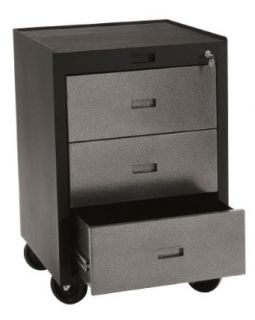 "Edsal PMB783D Industrial Gray Heavy Duty Steel Modular Workspace Storage System Mobile Tool Cabinet, 3 Drawers, 30"" Height x 23"" Width x 22"" Depth Tool Storage Sold By  Industrial & Scientific"