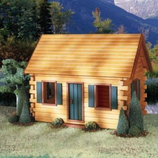 Real Good Toys QuickBuild Crockett's Cabin Kit   1 Inch Scale   Collector Dollhouse Kits