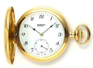 Bernex Swiss Made Gold Plated Pocket Watch with 17 Jewel Mechanical Movement at  Men's Watch store.