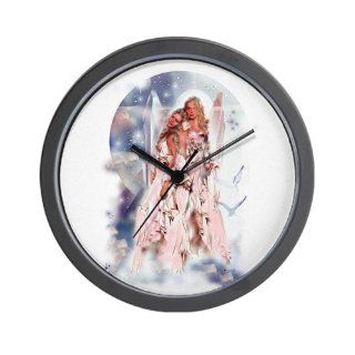 CafePress Guardian Angel Wall Clock