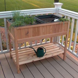 Prairie Leisure Herb Garden Raised Planter with 2 Liners   Raised Bed & Container Gardening