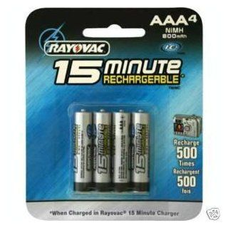 Rayovac   Battery 4 x AAA NiMH 790 mAh 15 minutes: Home Improvement