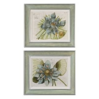 Blue Lotus Flower   Set of 2   28W x 24H in.   Framed Wall Art
