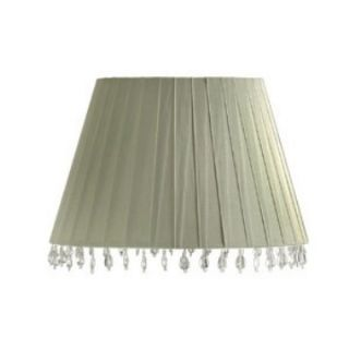 Aida Sage Layered Ribbon Barrel Lamp Shade.   Lamp Shades