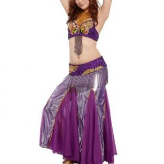 BellyLady Professional Belly Dance Costume, Bra With Bead Butterfly Pattern: Clothing
