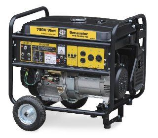 Steele Products SP GG750EC 7, 500 Watt 4 Cycle Gas Powered Portable Generator With Wheel Kit & Electric Start (CARB Compliant)  Patio, Lawn & Garden