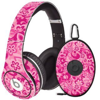 Pink Flower Power Decal Skin for Beats Studio Headphones & Carrying Case by Dr. Dre: Electronics