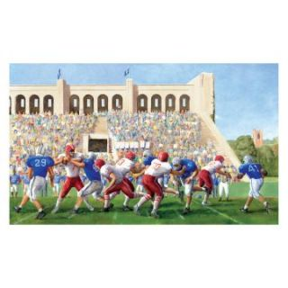 RoomMates Football Stadium Chair Rail Mural   Kids and Nursery Wall Art
