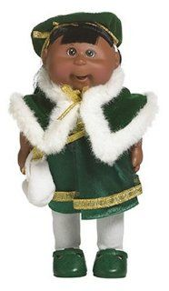 Cabbage Patch Kids Mini Dolls   Holiday Collection   African American Girl in Green Dress Toys & Games
