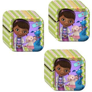 Disney Doc McStuffins Party Dessert Plates   24 Pieces: Toys & Games