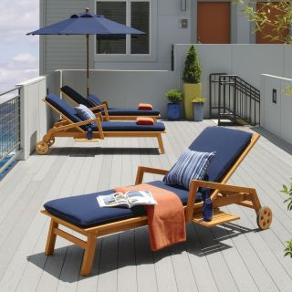 Oxford Garden Siena Chaise Lounge   Outdoor Chaise Lounges