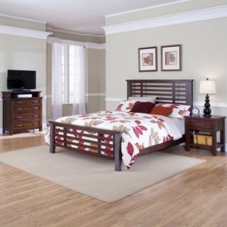 Cabin Creek Low Profile Bed with Metal Frame   Multi Step Chestnut   Low Profile Beds
