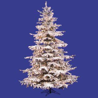 Flocked Sierra Pre lit Fir Christmas Tree   Christmas Trees