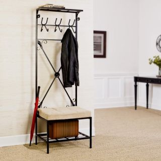SEI Entryway Storage Rack Hall Tree   Hall Trees