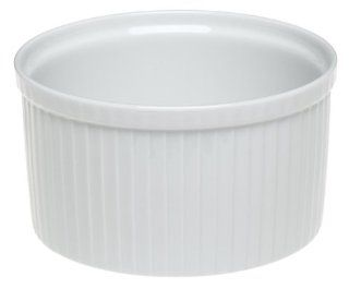 Pillivuyt Porcelain 6 Cup, 6 1/2 Inch Deep Classic Pleated Souffle Dish Kitchen & Dining