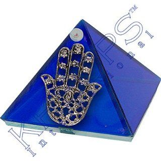 2 inch Glass Pyramid Box Fatima Hand Cobalt  Other Products