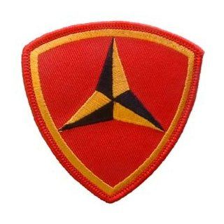 USMC Marine Corps Military Embroidered Iron On Patch   3rd Division Crest Applique: Novelty Baseball Caps: Clothing