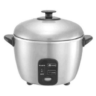 Sunpentown SC 886 3 Cup Stainless Steel Rice Cooker and Steamer   Rice Cookers
