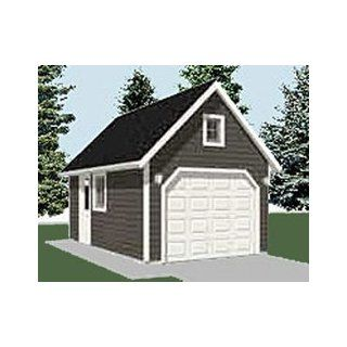 Garage plans two car garage with loft plan 856 1 for Single car garage plans with loft