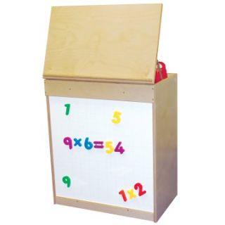 Wood Designs Big Book Display with Magnetic Markerboard   Natural   Kids Bookcases
