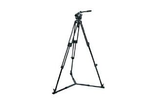 Manfrotto Pro Video Kit with 525MVB 2 Stage Alu Tripod, 503HDV Fluid Head, 3284 75mm Half Ball and MBAG90P Padded Case : Camera & Photo