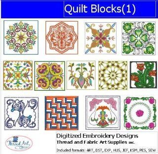 Digitized Embroidery Designs   Quilt Blocks(1)   CD
