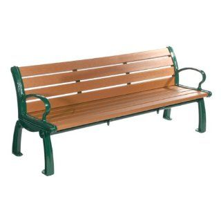 Heritage Recycled Plastic Outdoor Bench (8' L)  Patio, Lawn & Garden