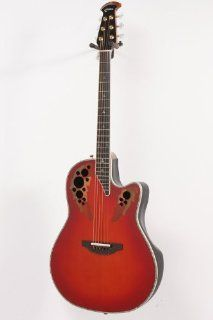 Ovation Custom Elite C2078 AX Deep Contour Acoustic Electric Guitar Red Tear Drop 886830876844 Musical Instruments