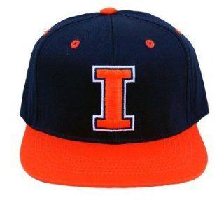 University of Illinois Snapback Adjustable Black Orange Hat Cap  Sports Fan Baseball Caps  Sports & Outdoors