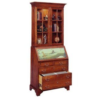 Jasper Cabinet 873 03 Arlington File Drawer Secretary Desk with Hutch   Nursery Furniture