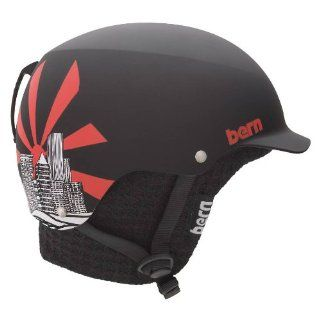 Bern Baker EPS Matte Grey Eric Pollard with Audio Knit Helmet (Large) : Ski Helmets : Sports & Outdoors