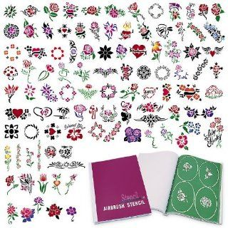 Temporary Tattoo Airbrush Stencils 100 Designs   Book 10 : Beauty
