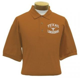 Texas Men's Embroidered Pique Polo Shirt (Large)  Sports Fan Polo Shirts  Clothing