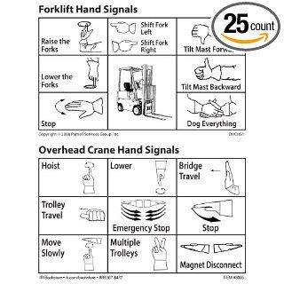 Overhead Crane/Forklift Hand Signal Cards (set of 25): Industrial & Scientific