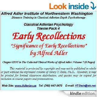 Early Recollections An Adlerian View (Theme Pack 4 on Selected Topics)   Kindle edition by Alfred Adler, Ph.D. Henry T. Stein. Health, Fitness & Dieting Kindle eBooks @ .